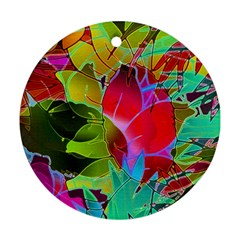 Floral Abstract 1 Round Ornament (Two Sides)