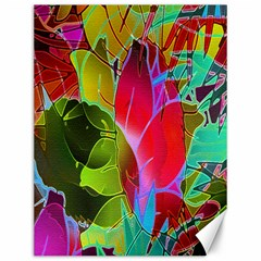 Floral Abstract 1 Canvas 12  x 16  (Unframed)
