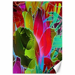 Floral Abstract 1 Canvas 12  x 18  (Unframed)