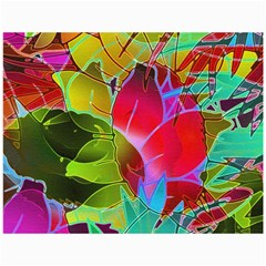 Floral Abstract 1 Canvas 36  x 48  (Unframed)