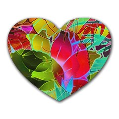 Floral Abstract 1 Mouse Pad (heart)