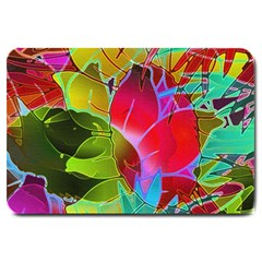 Floral Abstract 1 Large Door Mat