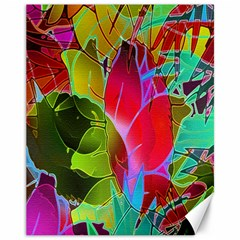 Floral Abstract 1 Canvas 11  x 14  (Unframed)