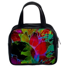 Floral Abstract 1 Classic Handbag (Two Sides)