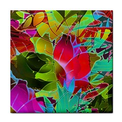 Floral Abstract 1 Face Towel