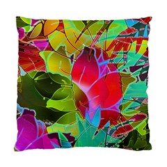 Floral Abstract 1 Cushion Case (Two Sided)