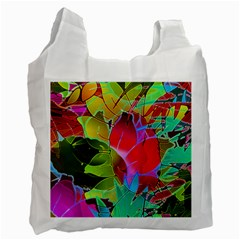 Floral Abstract 1 Recycle Bag (Two Sides)