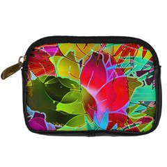 Floral Abstract 1 Digital Camera Leather Case
