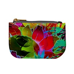 Floral Abstract 1 Coin Change Purse