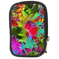 Floral Abstract 1 Compact Camera Leather Case