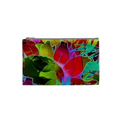 Floral Abstract 1 Cosmetic Bag (small)