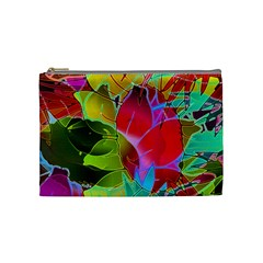 Floral Abstract 1 Cosmetic Bag (Medium)