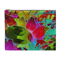 Floral Abstract 1 Cosmetic Bag (XL)