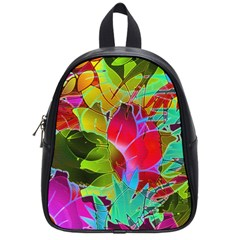 Floral Abstract 1 School Bag (Small)