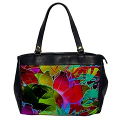 Floral Abstract 1 Oversize Office Handbag (One Side)