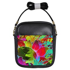 Floral Abstract 1 Girl s Sling Bag