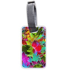 Floral Abstract 1 Luggage Tag (One Side)