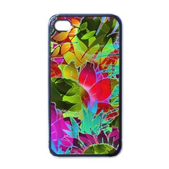 Floral Abstract 1 Apple iPhone 4 Case (Black)