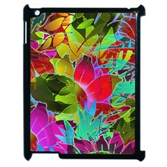 Floral Abstract 1 Apple iPad 2 Case (Black)