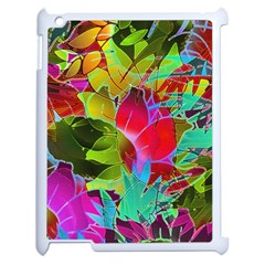 Floral Abstract 1 Apple Ipad 2 Case (white)