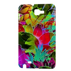 Floral Abstract 1 Samsung Galaxy Note 1 Hardshell Case