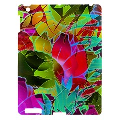 Floral Abstract 1 Apple iPad 3/4 Hardshell Case