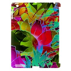 Floral Abstract 1 Apple iPad 3/4 Hardshell Case (Compatible with Smart Cover)