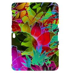 Floral Abstract 1 Samsung Galaxy Tab 8.9  P7300 Hardshell Case