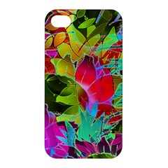 Floral Abstract 1 Apple Iphone 4/4s Premium Hardshell Case
