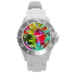 Floral Abstract 1 Plastic Sport Watch (Large)