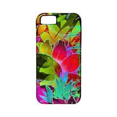 Floral Abstract 1 Apple Iphone 5 Classic Hardshell Case (pc+silicone)