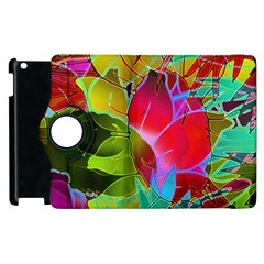 Floral Abstract 1 Apple iPad 2 Flip 360 Case