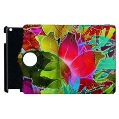 Floral Abstract 1 Apple iPad 3/4 Flip 360 Case