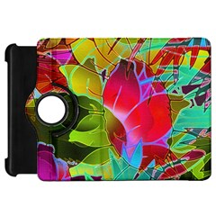 Floral Abstract 1 Kindle Fire HD 7  (1st Gen) Flip 360 Case