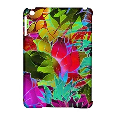 Floral Abstract 1 Apple Ipad Mini Hardshell Case (compatible With Smart Cover)