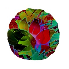 Floral Abstract 1 15  Premium Round Cushion