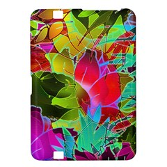 Floral Abstract 1 Kindle Fire Hd 8 9  Hardshell Case