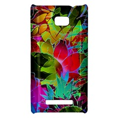 Floral Abstract 1 HTC 8X Hardshell Case