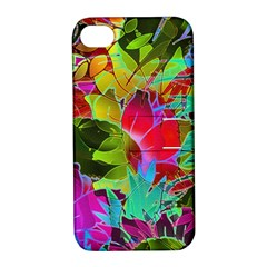 Floral Abstract 1 Apple Iphone 4/4s Hardshell Case With Stand