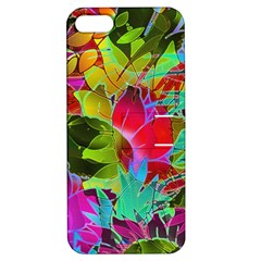 Floral Abstract 1 Apple iPhone 5 Hardshell Case with Stand