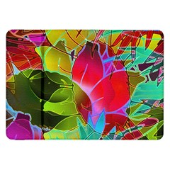 Floral Abstract 1 Samsung Galaxy Tab 8.9  P7300 Flip Case