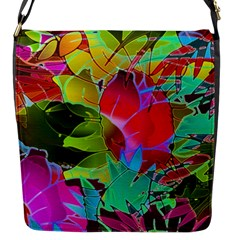 Floral Abstract 1 Flap Closure Messenger Bag (small)