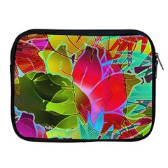 Floral Abstract 1 Apple iPad Zippered Sleeve