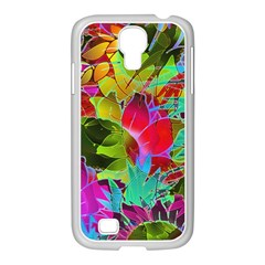 Floral Abstract 1 Samsung GALAXY S4 I9500/ I9505 Case (White)