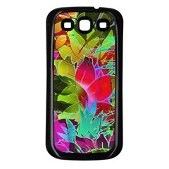 Floral Abstract 1 Samsung Galaxy S3 Back Case (Black)