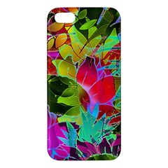 Floral Abstract 1 iPhone 5S Premium Hardshell Case
