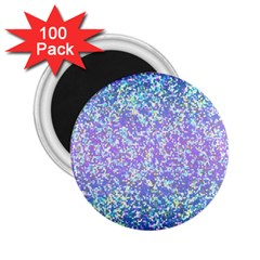Glitter2 2 25  Button Magnet (100 Pack)