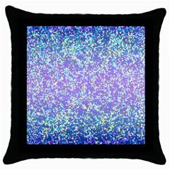 Glitter2 Black Throw Pillow Case