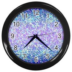 Glitter2 Wall Clock (black)
