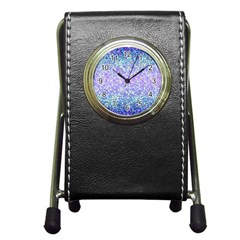 Glitter2 Stationery Holder Clock